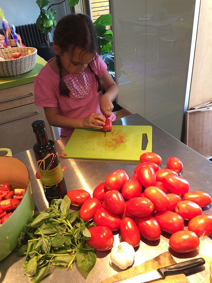 Etape 1 couper les tomates