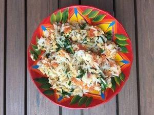 riz au thon et aux épinards