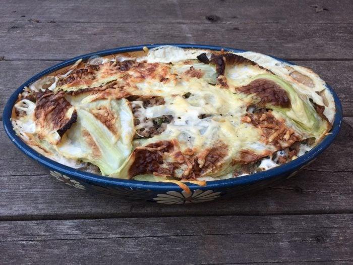 Lasagne au chou vert de super boîte à lunch