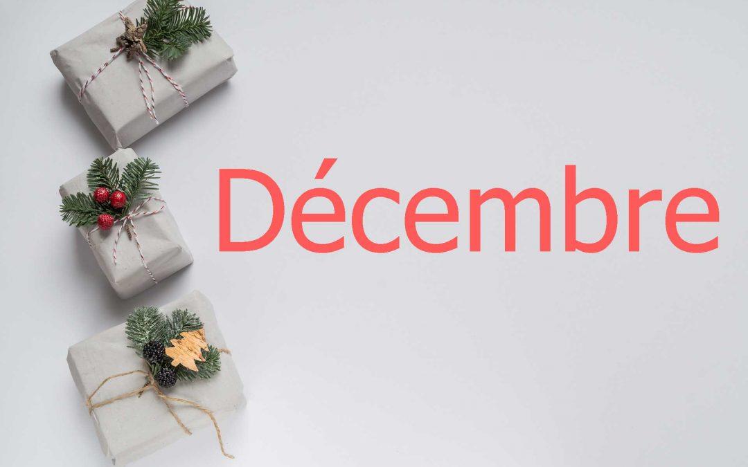 recettes de décembre