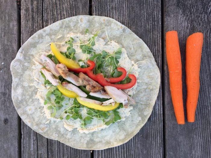 Tortillas aux 3 poivrons de super boîte à lunch