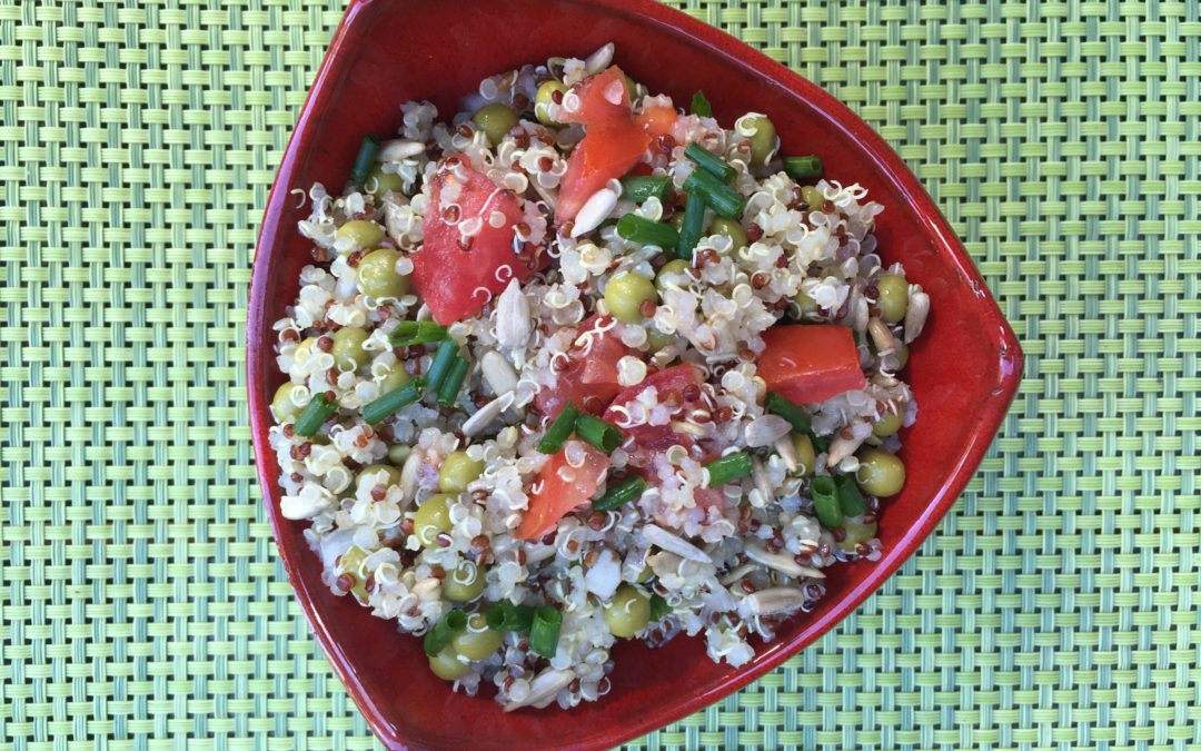 Salade de quinoa et petits pois de Super Boîte à Lunch