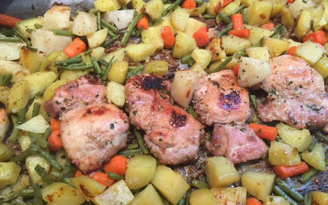 Succulent poulet aux légumes [10 minutes de préparation]
