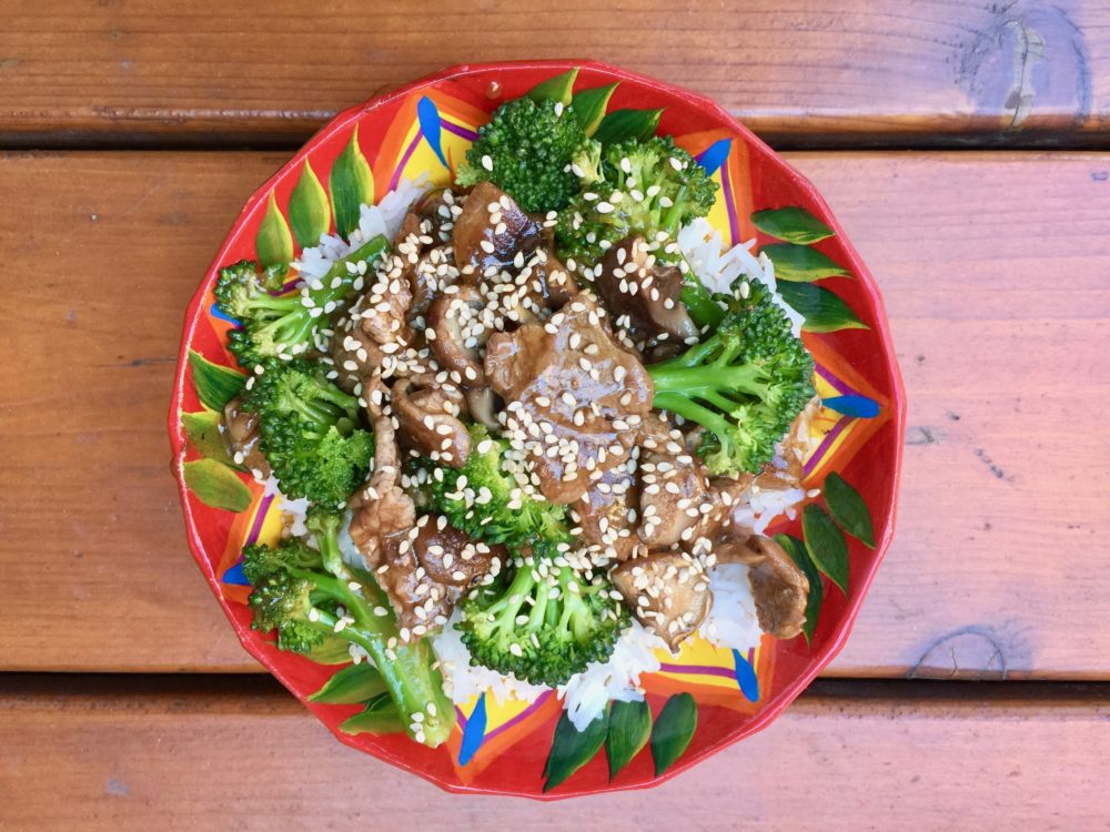 Brocolis aux boeuf & shiitake de Super Boîte à Lunch