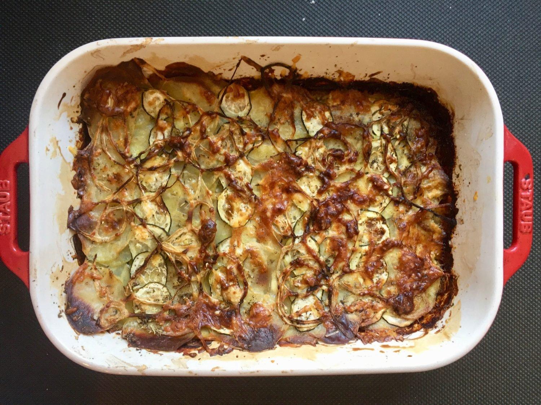 Le gratin pommes de terre et courgettes de Super Boîte à Lunch