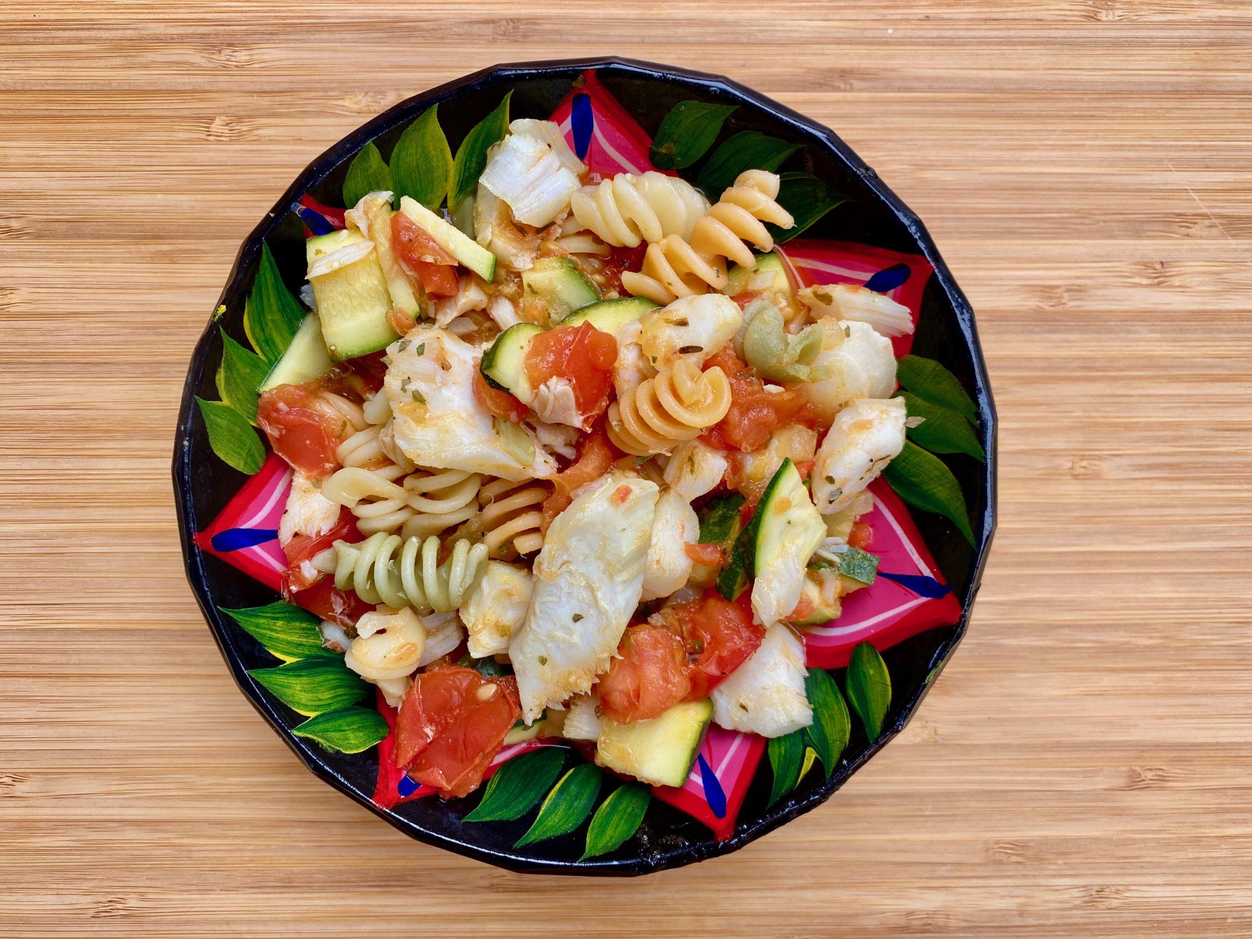 Cabillaud (morue) aux courgettes et tomates de Super Boîte à Lunch