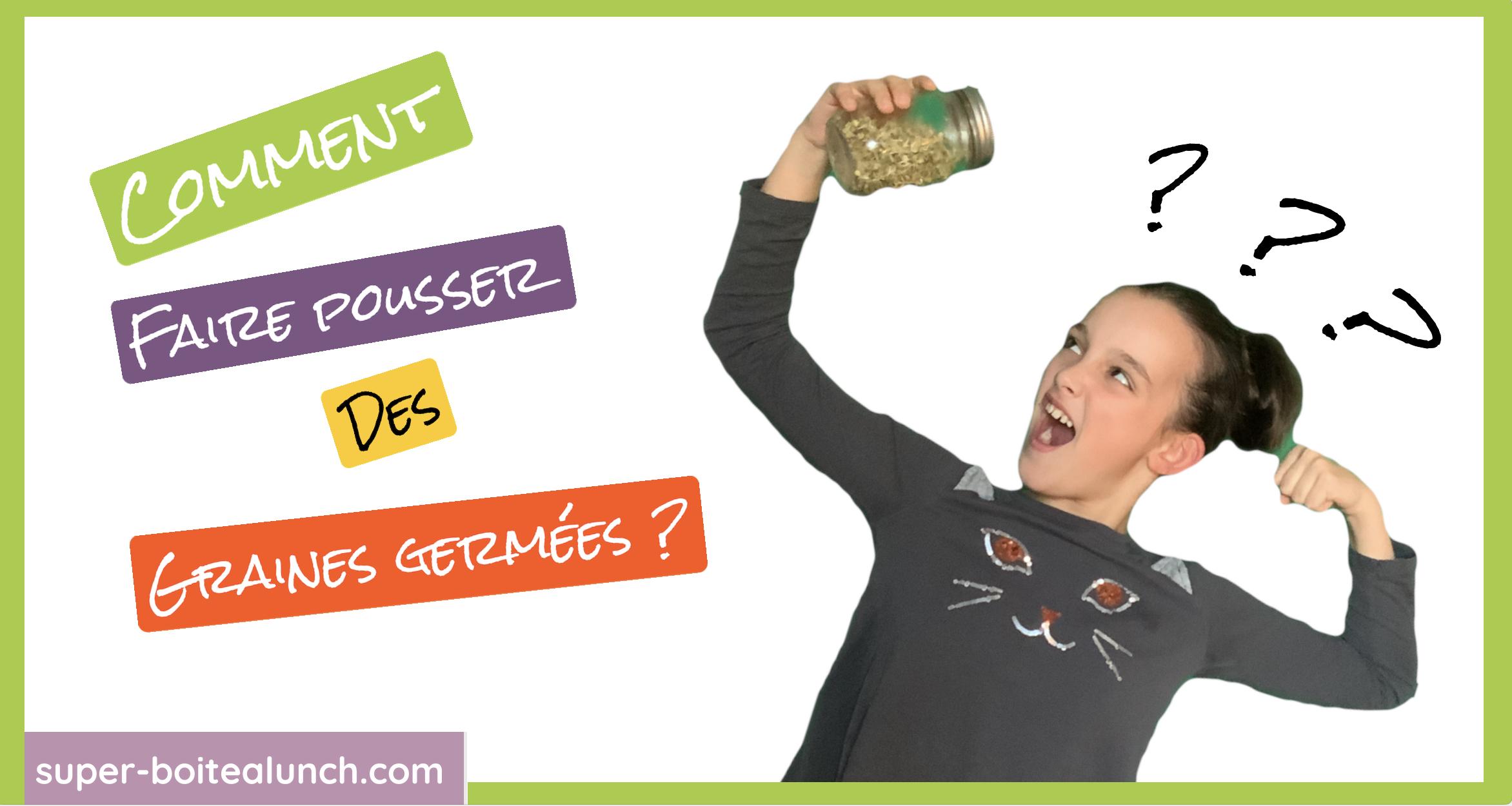 Comment faire ses graines germées en 3 étapes par Super Boîte à Lunch