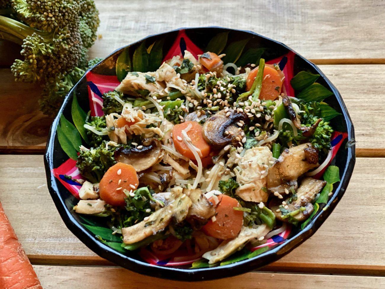 Lunchbox : Vermicelles de riz aux brocoli et carottes