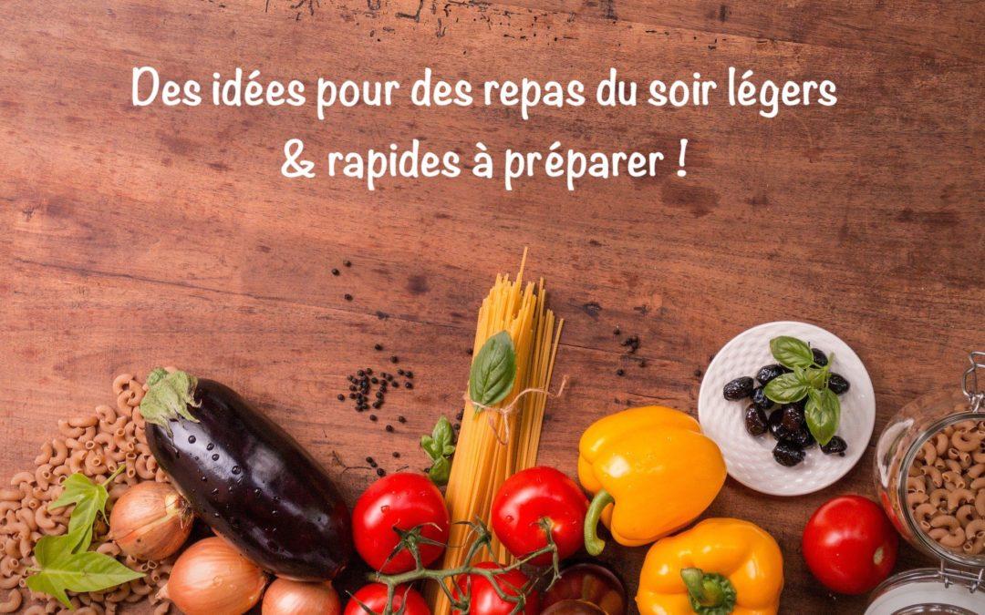 Le soir, mangez léger : 7 idées de repas végétariens rapides à préparer !
