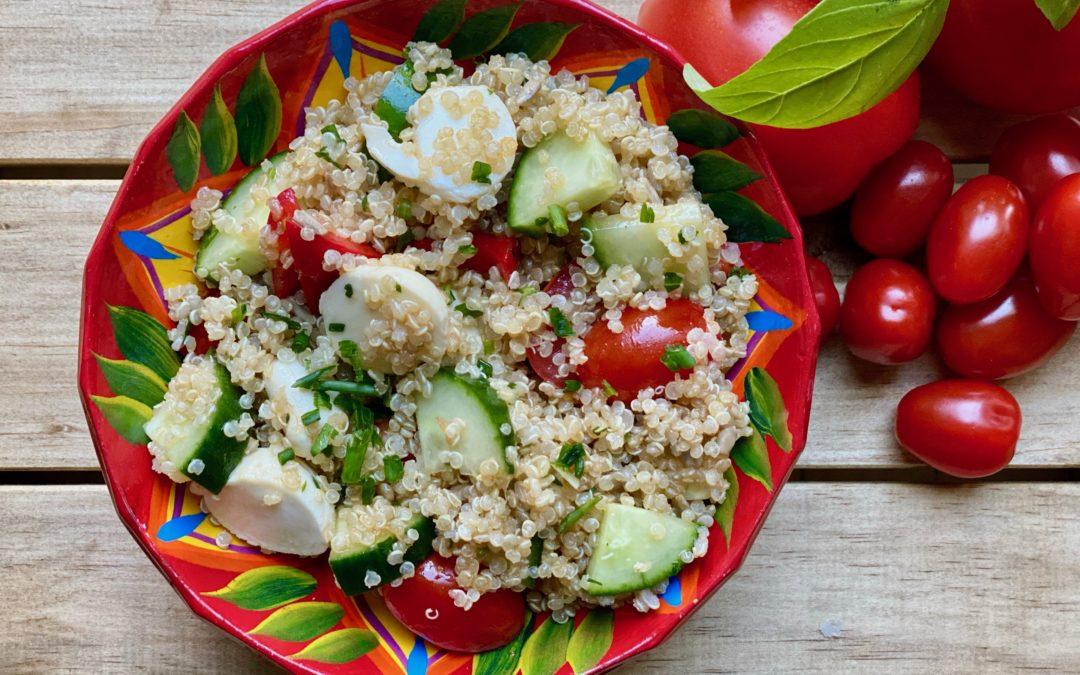 Salade de quinoa et légumes par Super Boîte à lunch