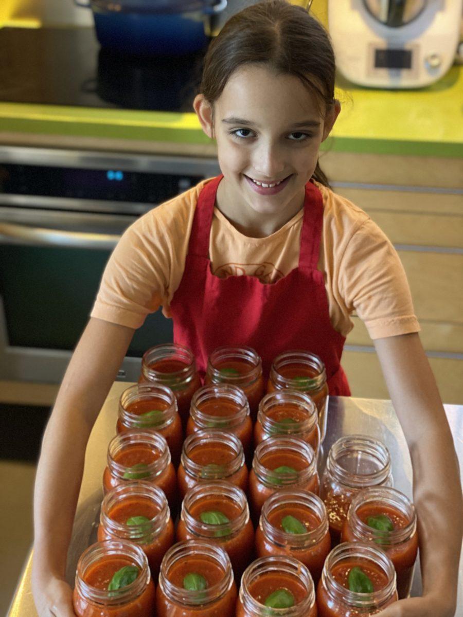 Délicieuse sauce tomate maison de super boîte à lunch