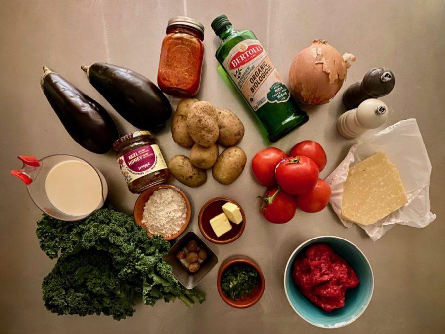 ingrédients pour une recette de moussaka revisitée