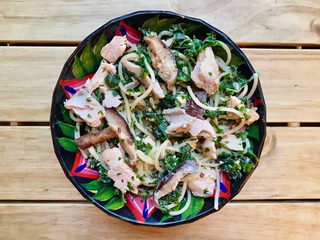 Recette au kale et saumon de Super Boîte à lunch