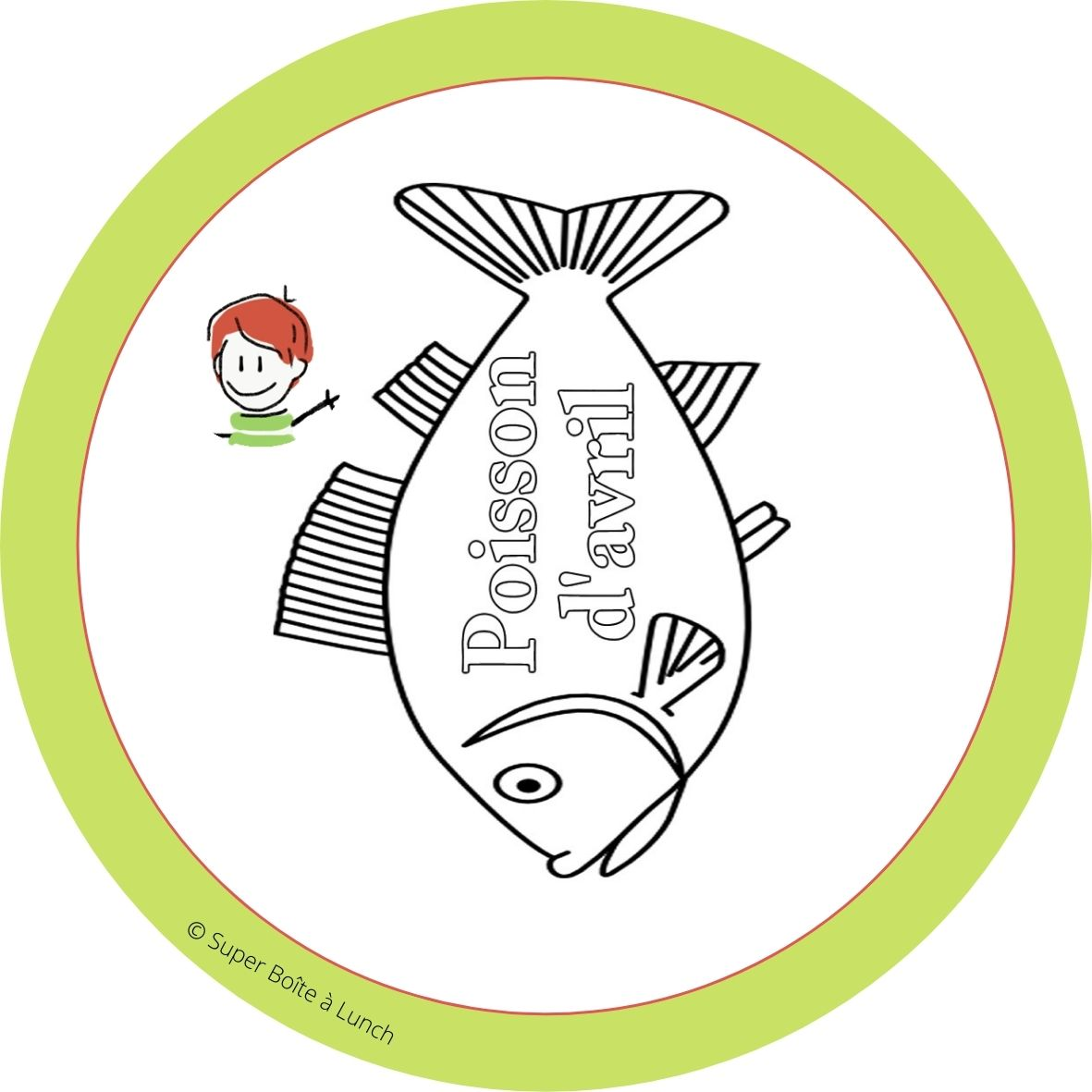 Carte poisson d'avril pour lunchbox